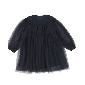 Navy Layered Tulle Dress
