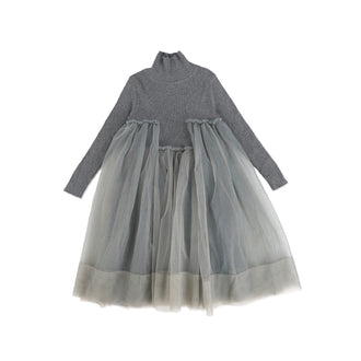 Grey Tulle Bottom Dress