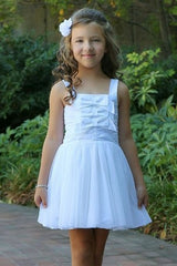 Stony White Bow Dress