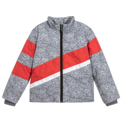 Grey/Orange Puffer Jacket