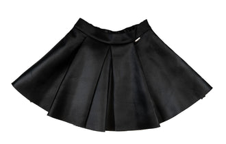 Black Pleated Neoprene Skirt