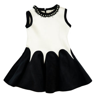 Black&Ivory Neoprene Velvet Dress
