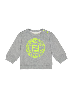 Grey Neon Logo Sweattop