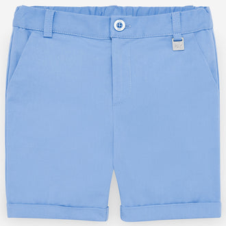 Blue Cotton Bermudas