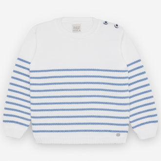 Blue&White Striped Sweater