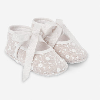 Natural Baby Shoe With Lace
