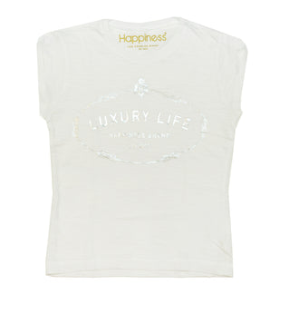White Luxury Life Graphic Tee