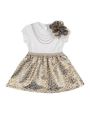 Leopard Rhinestone Jersey Dress