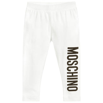 White Logo Legging