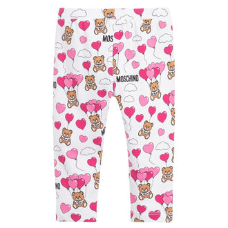 White Heart Balloon Legging