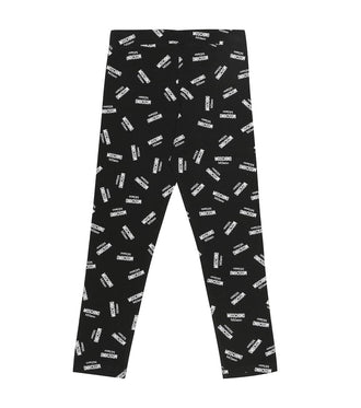 Black Allover Logo Legging