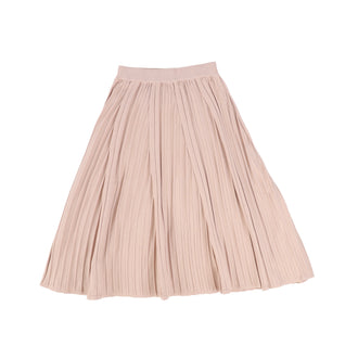 Blush Paneled Pleated Skirt