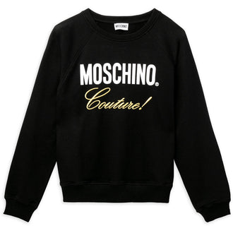 Black Couture Logo Sweatshirt