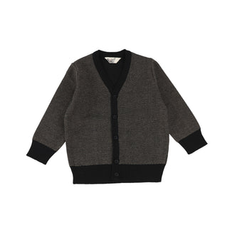 Speckled Black V Cardigan