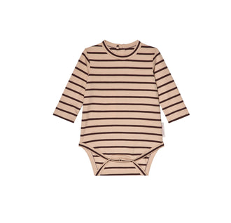 Nude/Plum Small Stripes Body