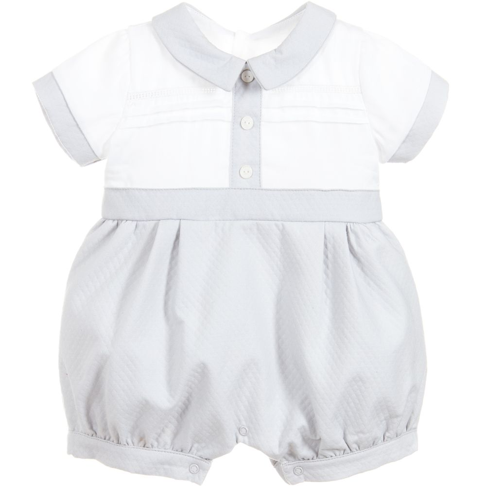 c15e6c68a Grey Pique Romper – The Red Balloon