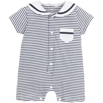 Navy Stripes Marine Romper