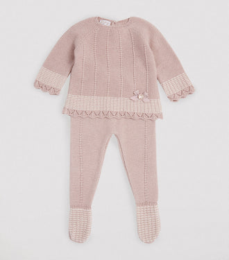 Malia' Vintage Rose Knit Ensamble
