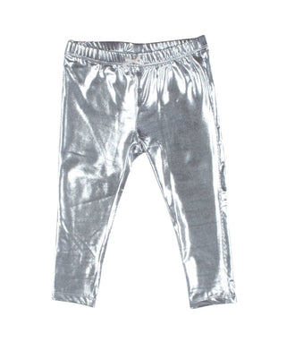 Silver Lame Leggings