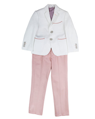 White Blazer With Pink Pant