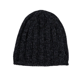 Dark Grey Ribbed Hat