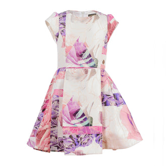 Rose Print Party Dress