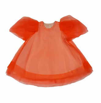 Salmon Tulle Dress