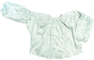 Blue Glitter Dots Amanda Shirt
