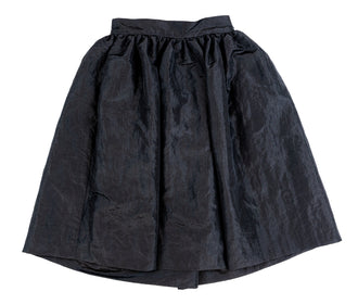 Black Taffera Crincle Skirt