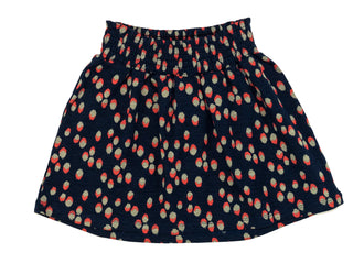 Navy 'Brush' Print Skirt