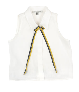 Ivory Sleeveless Shirt
