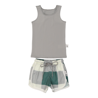 Sage Colorblock Swimshorts