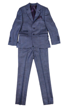 Navy Textured Suit