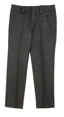 Charcoa Grey Wool-Like Pants
