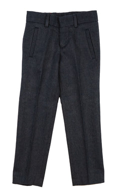 Blue Heather Wool-Like Pants