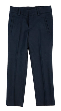 Navy Wool-Like Pants