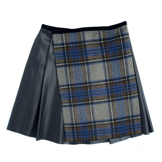 Plaid Combo Skirt