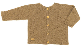Beige Reversable Cardigan