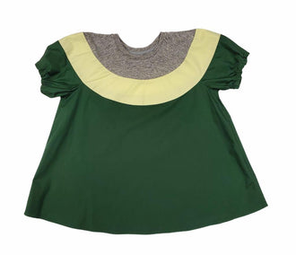 Green Colorblock Dress