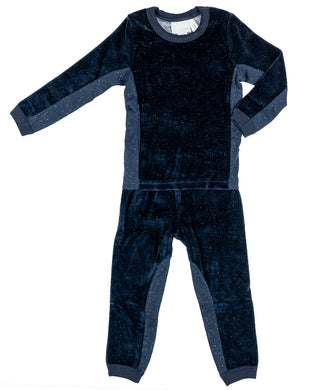 Blue Nights Neppy Velour Pjs