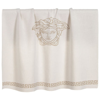 White Knit Medusa Blanket