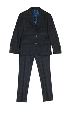 Navy Window Pane Suit