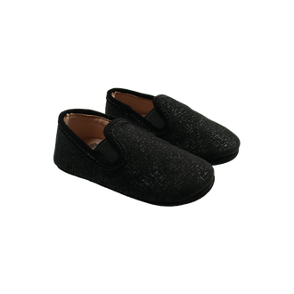 Black Abstract Mettalic Loafer