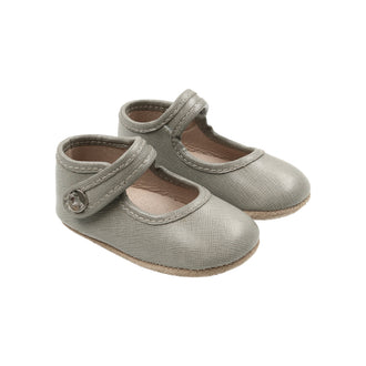 Mist Grey Classic Leather Mary Jane