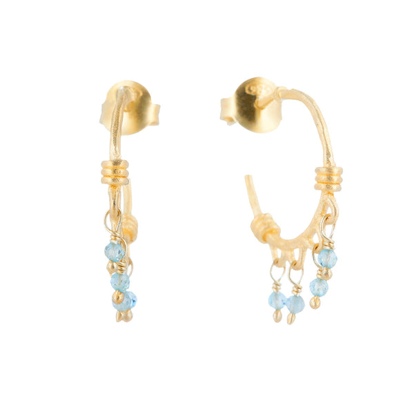 Jewel Drop Matte Hoop Earrings