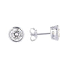 6.5mm Cubic Zirconia Stud Earrings Silver 2 - Jewellery Shops Online - Bowerbird Jewels