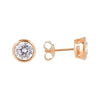 6.5mm Cubic Zirconia Stud Earrings Silver 4 - Jewellery Shops Online - Bowerbird Jewels
