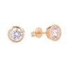 6.5mm Cubic Zirconia Stud Earrings Rose 3 - Jewellery Shops Online - Bowerbird Jewels