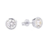 6.5mm Cubic Zirconia Stud Earrings Silver 1 - Jewellery Shops Online - Bowerbird Jewels