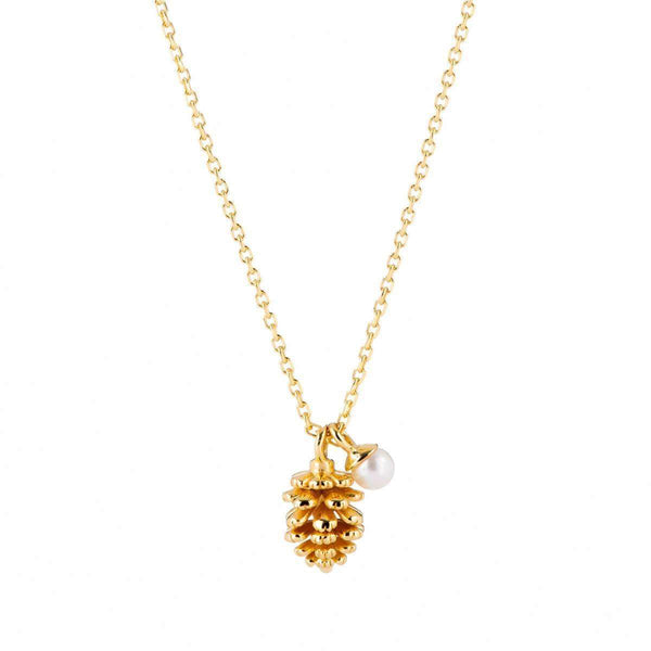 Acorn and Pearl Charm Necklace 1 - Jewellery Shops Online - Bowerbird Jewels